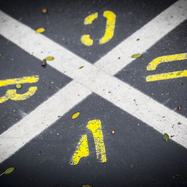 road markings image